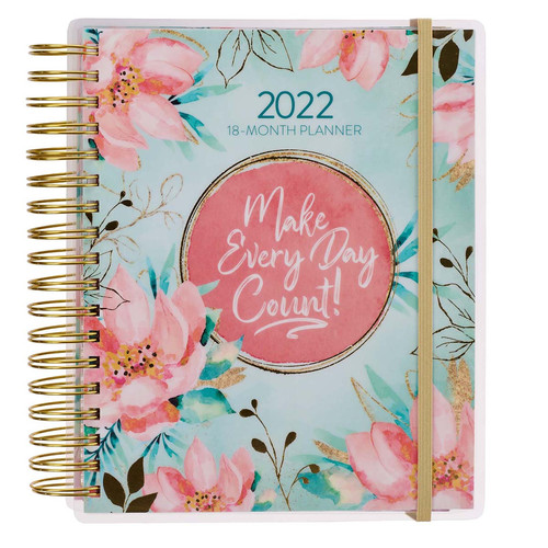 2022 Make Every Day Count Wirebound 18-month Planner For Women