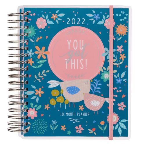 2022 You Got This Wirebound 18-month Planner For Women