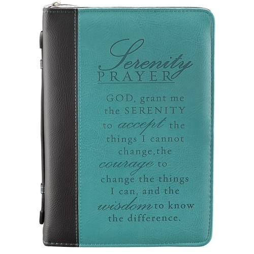 Serenity Prayer in Two-Tone Aqua Bible Cover