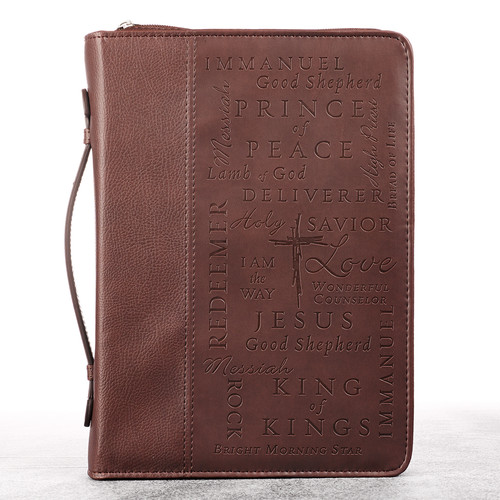 Names of Jesus in Burgundy Bible Cover