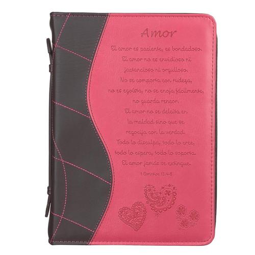 Forro 1 Corintios 13:4-8 rosado