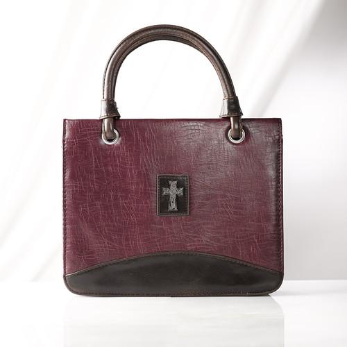 Purple Vintage Finish Purse-Style Bible Cover