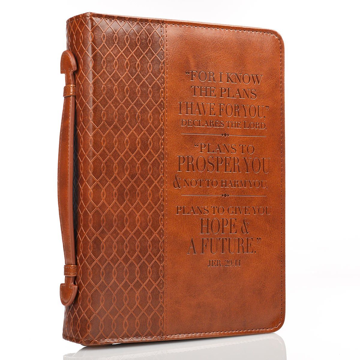 I-know-the-Plans-in-two-tone-Brown-Jeremiah-29-11-Bible-Cover-Size-Medium thumbnail 4