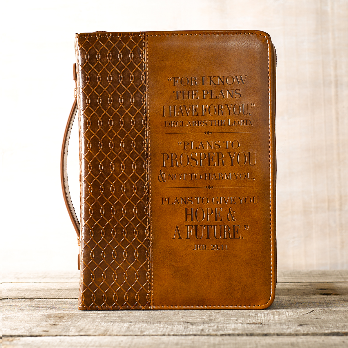 I-know-the-Plans-in-two-tone-Brown-Jeremiah-29-11-Bible-Cover-Size-Medium thumbnail 5