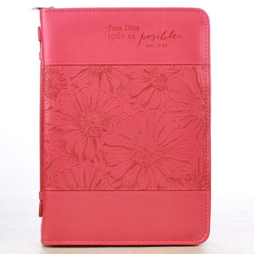 Forro símil cuero Mt. 19:26, rosado