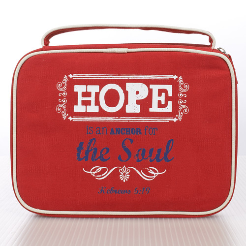 Red Hope Retro Blessings Bible Cover