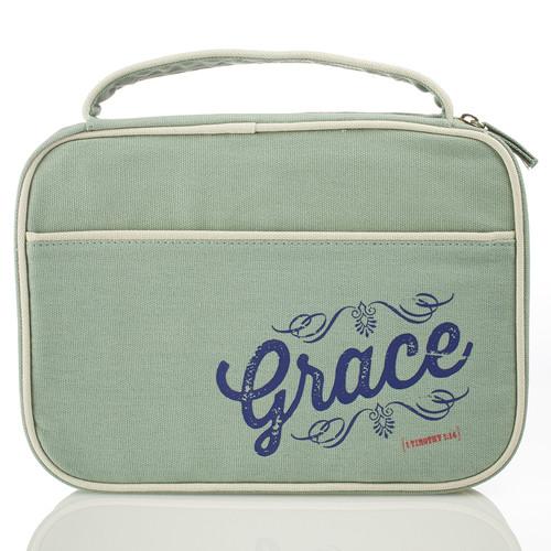 Blue Grace Retro Blessings Bible Cover