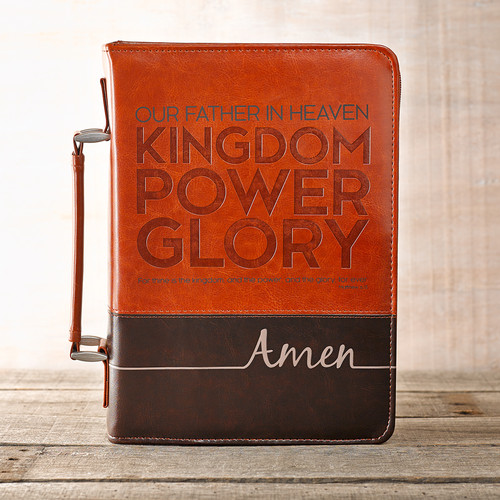The Lords Prayer in Two-Tone Brown Bible Cover