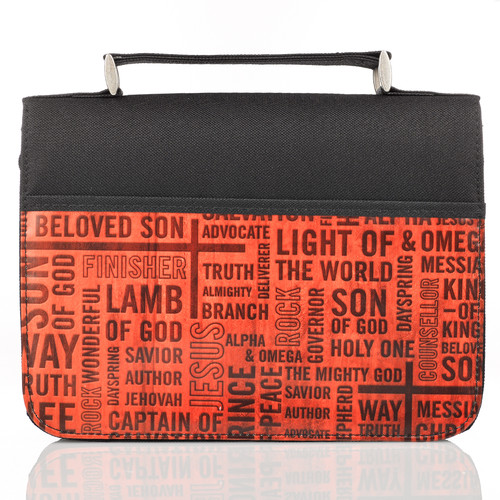 Names of Jesus Bible Cover in Black & Red