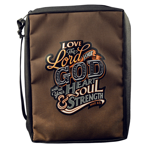 Love The Lord Your God Poly-Canvas Bible Cover