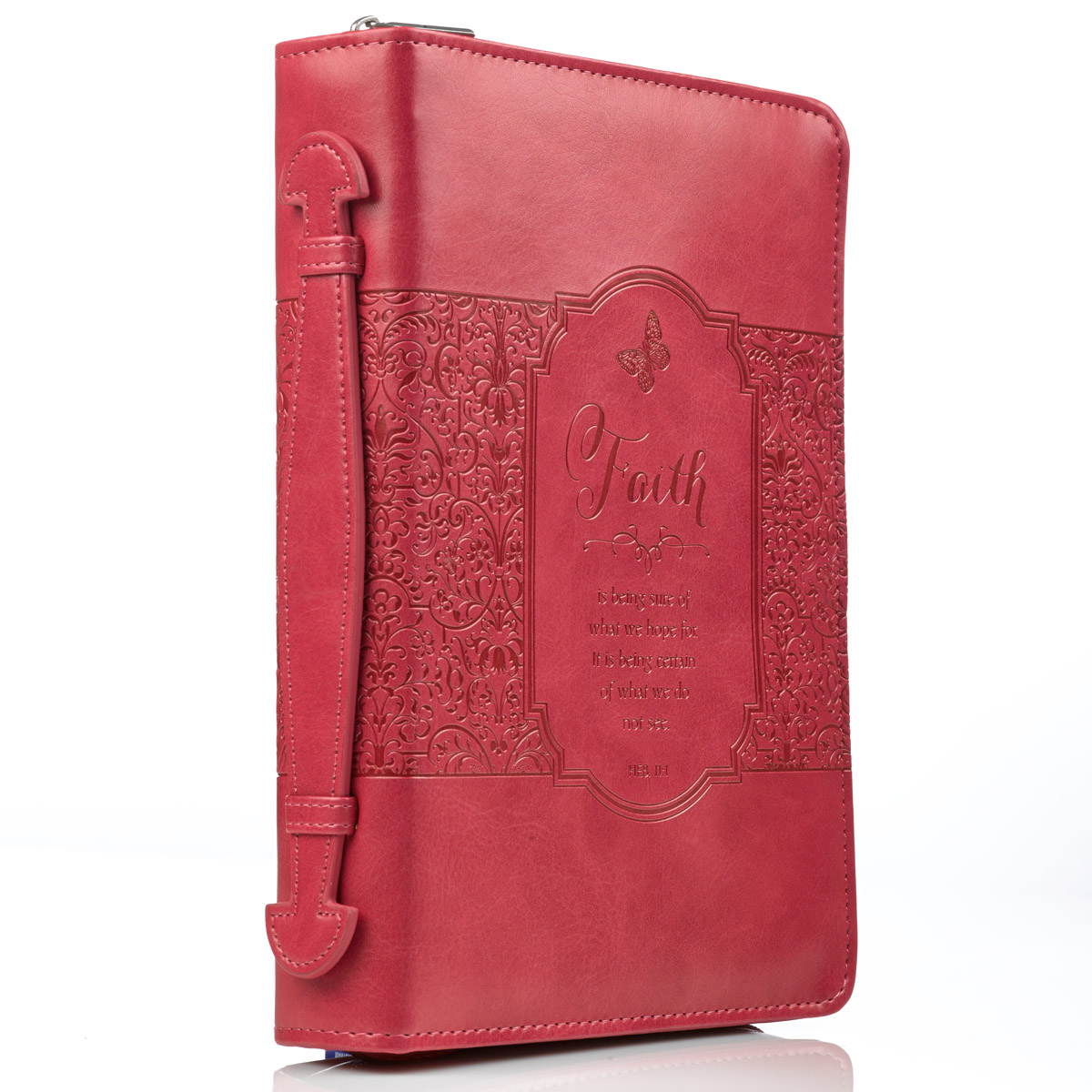 God of Hope Joy Peace Romans Black and Burgundy Medium Faux Leather Bible Cover