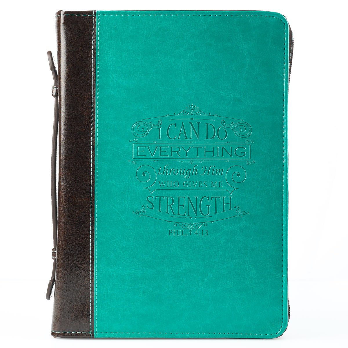 I Can Do Everything In Turquoise And Brown Philippians 4