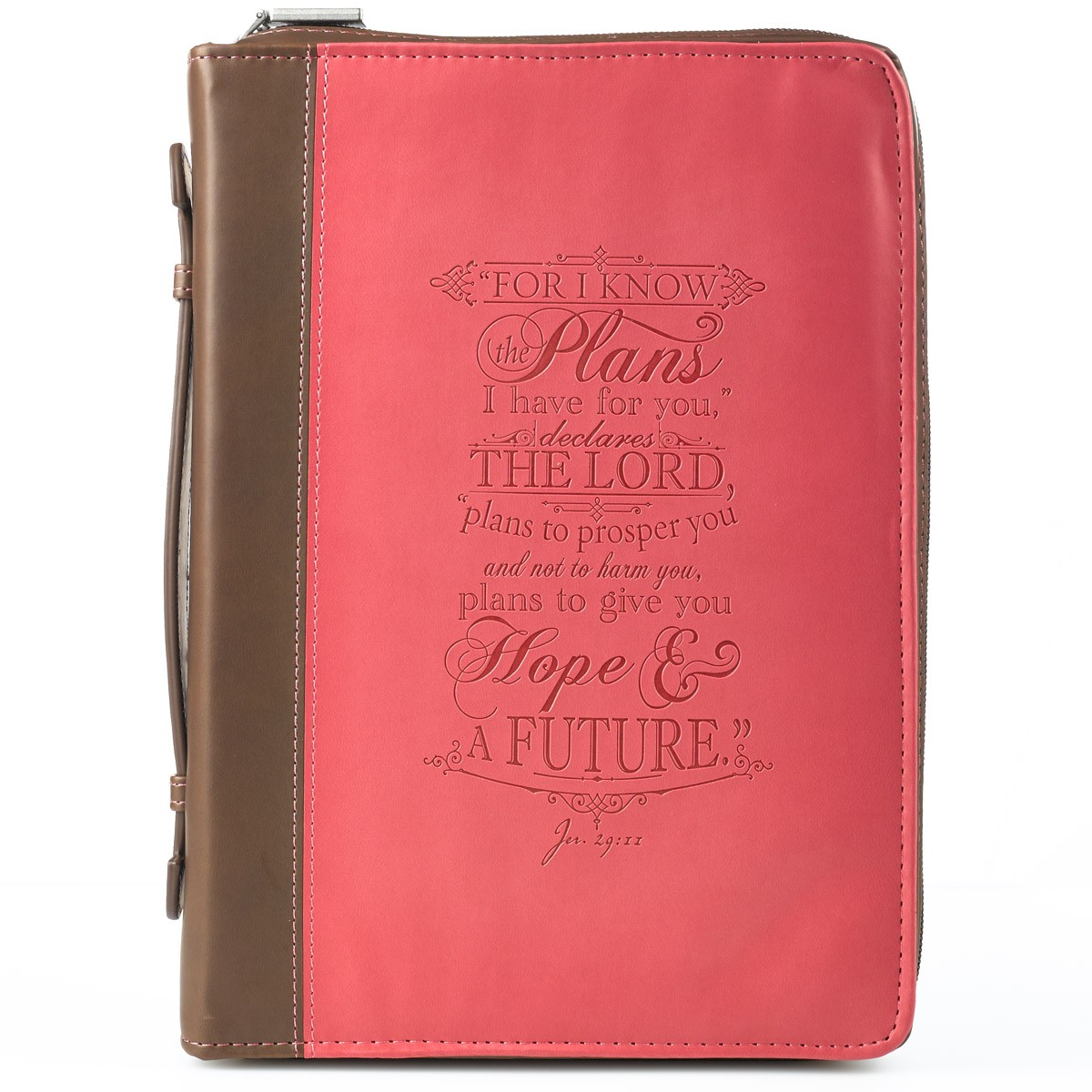 I-know-the-plans-in-pink-and-brown-Jeremiah-29-11-Bible-Cover-Size-Medium