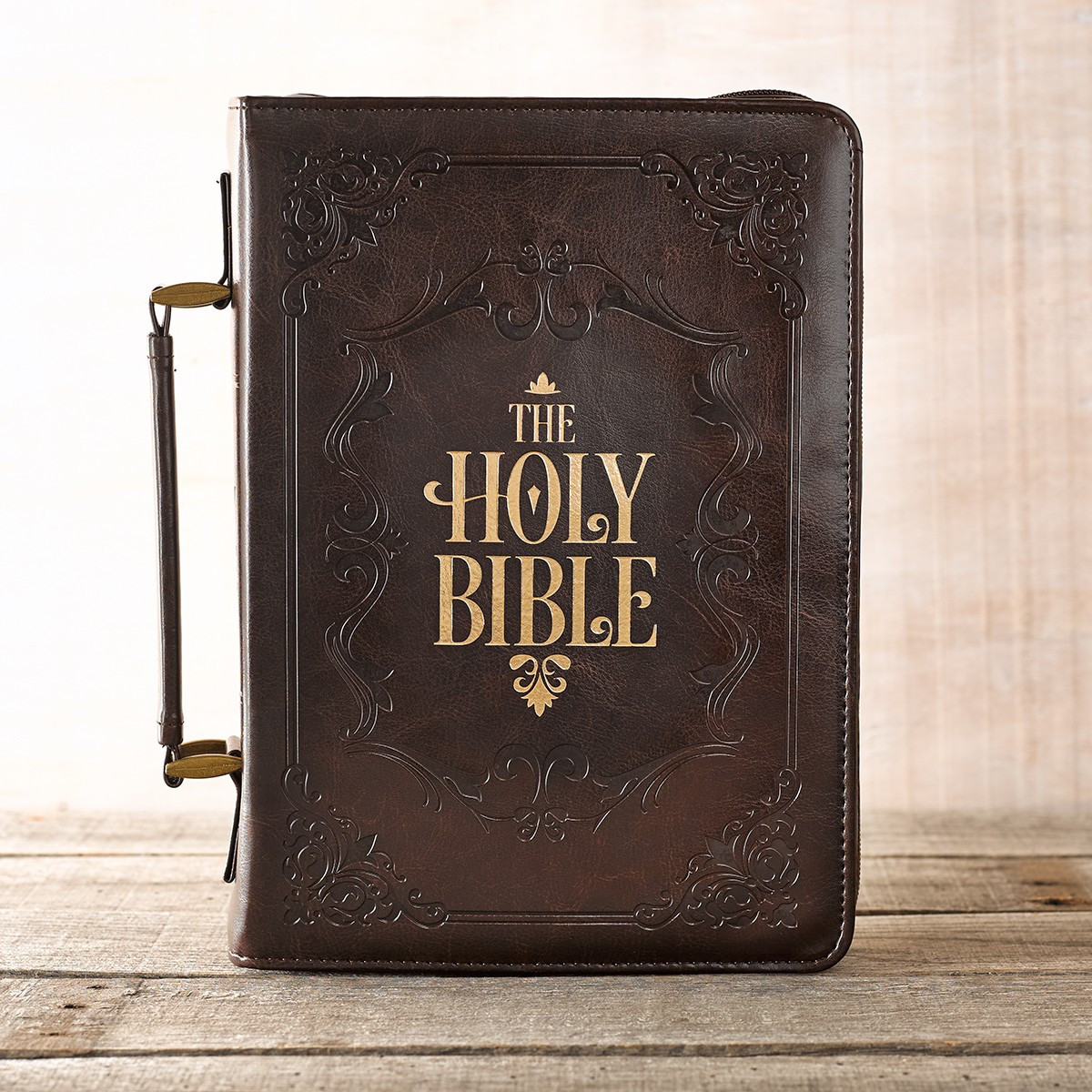 The Holy Bible in Brown Bible Cover Holy Bible Side Cover
