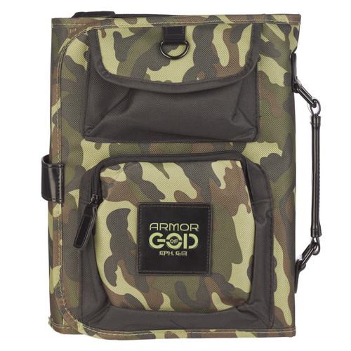 Camouflage Tri-Fold Organizer Bible Cover