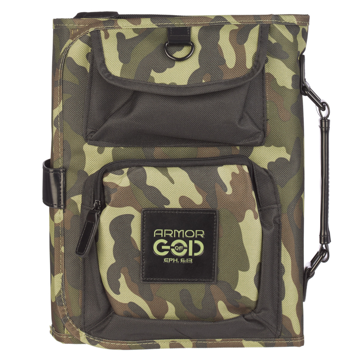 bible cover organizer tri fold in camouflage christian art gifts