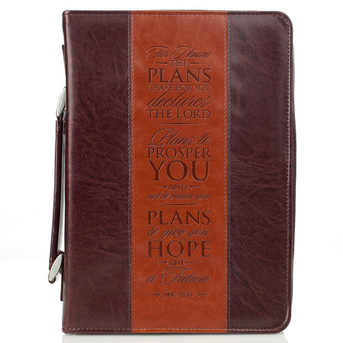 Two-tone Brown Jeremiah 29:11 Bible Cover