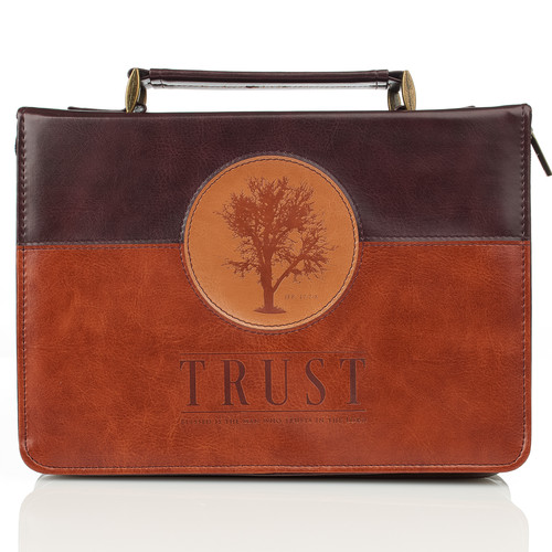 Trust in Two-tone Jeremiah 17:7 Bible Cover