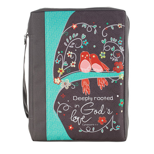 Deeply Rooted in Gods Love Poly-canvas Value Bible Cover - Ephesians 3:17