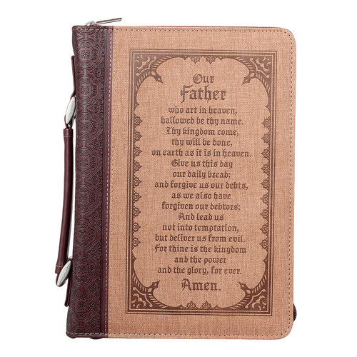 The Lords Prayer in Brown Bible Cover