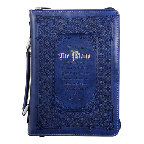 The Plans in Blue Jeremiah 29:11 Bible Cover