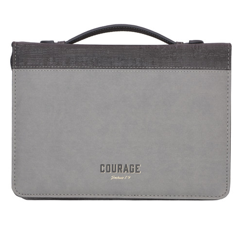 Courage LuxLeather Bible Cover – Joshua 1:9
