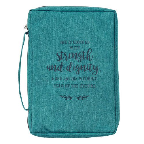 Strength And Dignity Teal Value Bible Cover