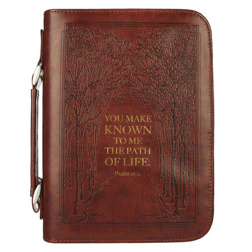 The Path Of Life Classic Faux Leather Bible Cover - Psalm 16:11