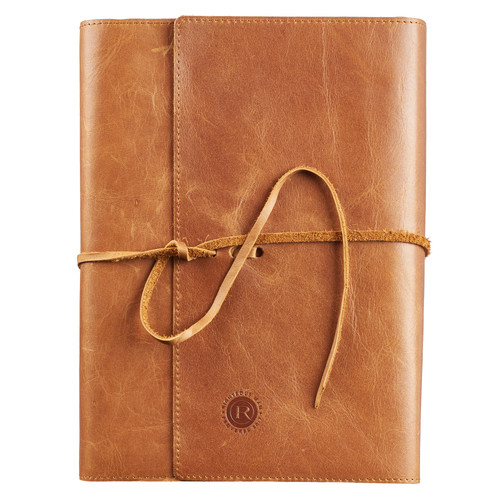 Righteous Man Full Grain Leather Bible Wrap - Proverbs 20:7