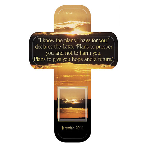 Jeremiah 29:11 Paper Cross Bookmark