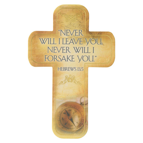 Hebrews 13:5 Paper Cross Bookmark