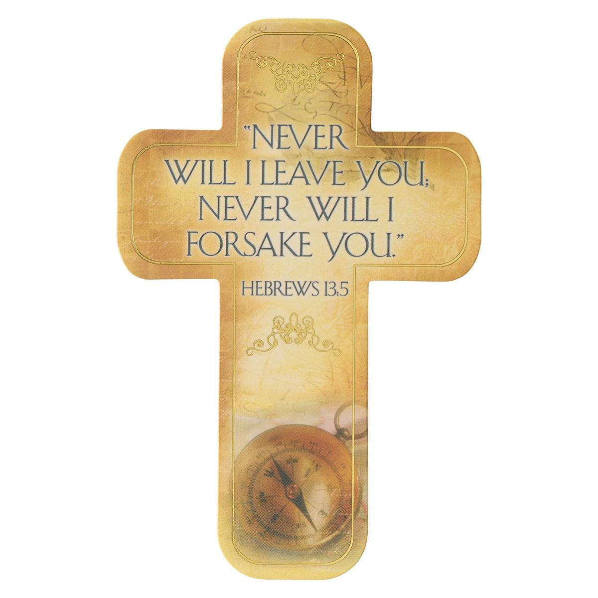 Hebrews 13:5 Paper Cross Bookmark