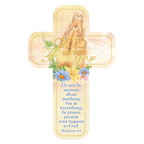Philippians 4:6 Paper Cross Bookmark