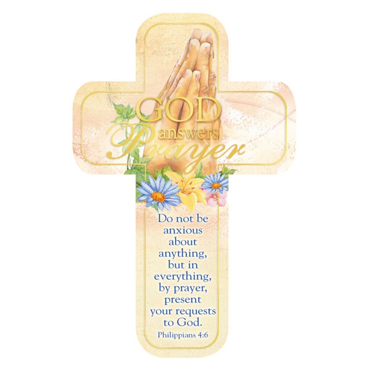 Philippians 4 6 Paper Cross Bookmark