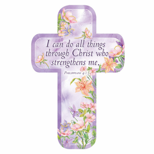 Philippians 4:13 Paper Cross Bookmark