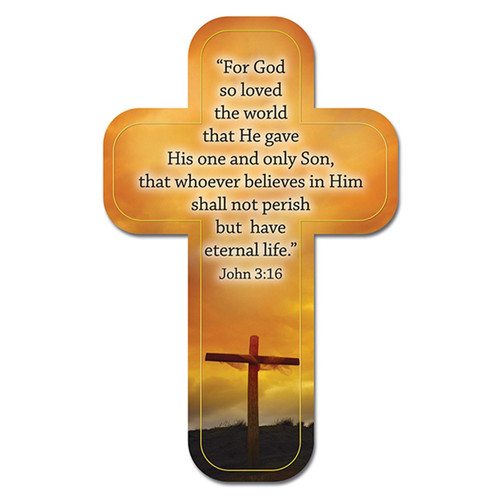 John 3:16 Paper Cross Bookmark