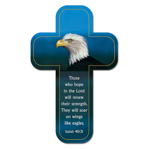On Wings Like Eagles Paper Cross Bookmark - Isaiah 40:31