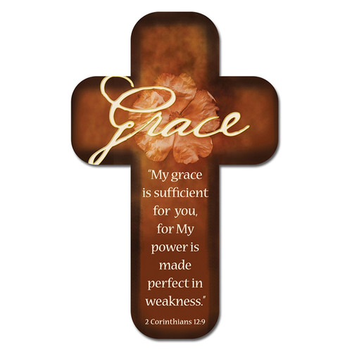 Grace Paper - 2 Corinthians 12:9 Cross Bookmark
