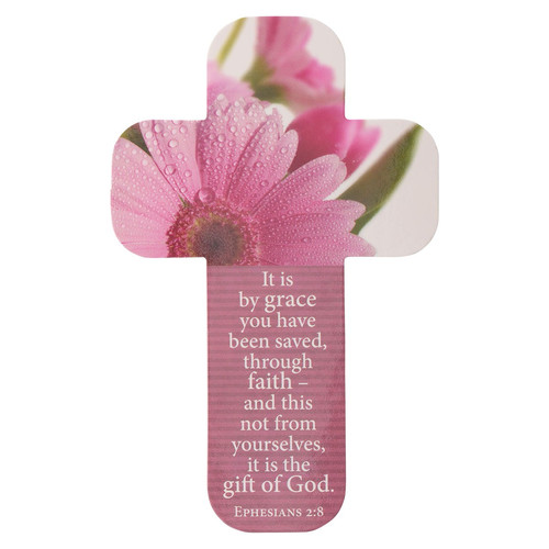 Ephesians 2:8 Paper Cross Bookmark