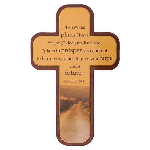 I Know the Plans Paper Cross Bookmark