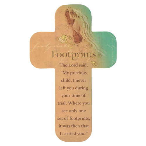 Footprints Paper Cross Bookmark