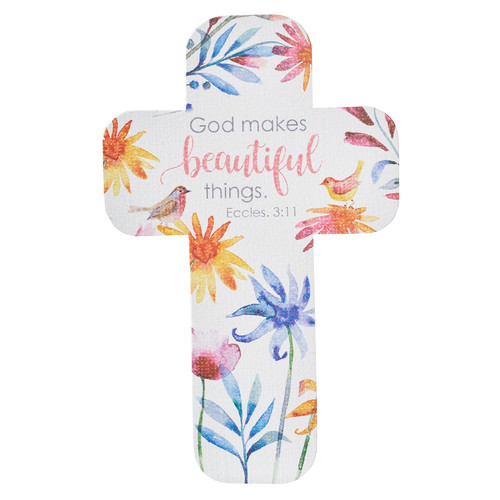 God Makes Beautiful Things Paper Cross Bookmark