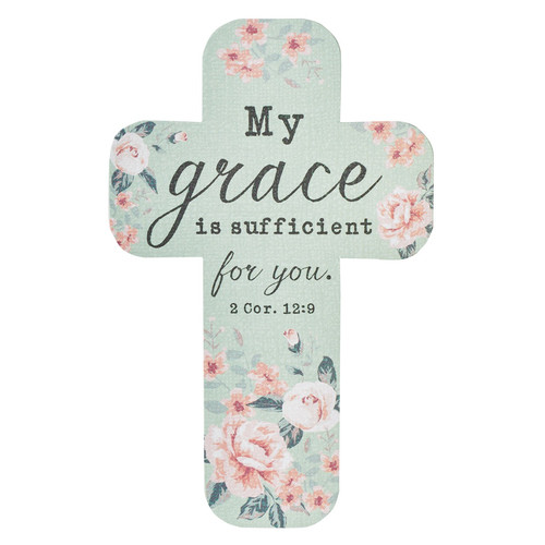 My Grace Is Sufficient Paper Cross Bookmark
