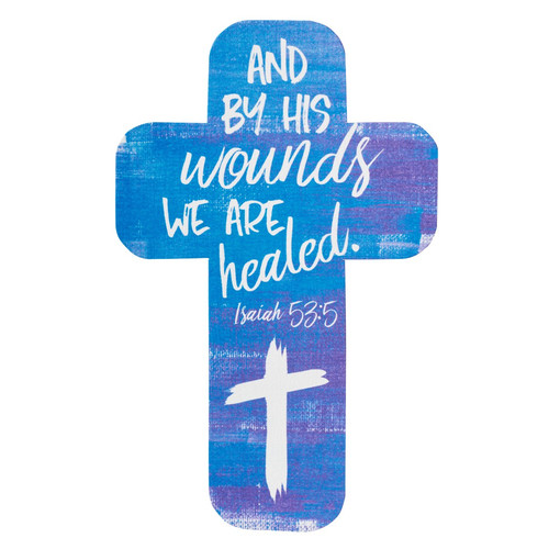 By His Wounds We Are Healed Paper Cross Bookmark - Isaiah 53:5