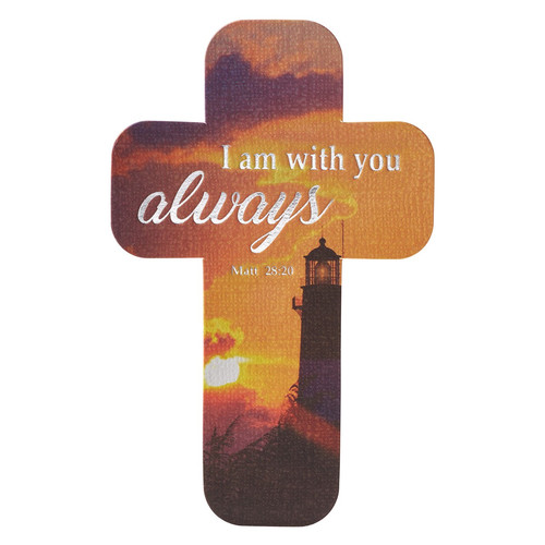 I Am with You Always Paper Cross Bookmark