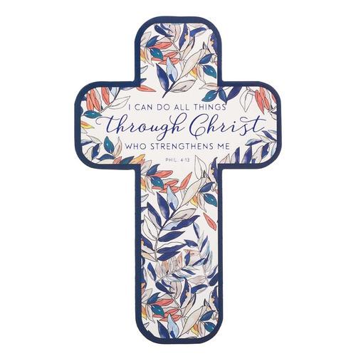 All Things Through Christ Cross Bookmark Set - Philippians 4:13
