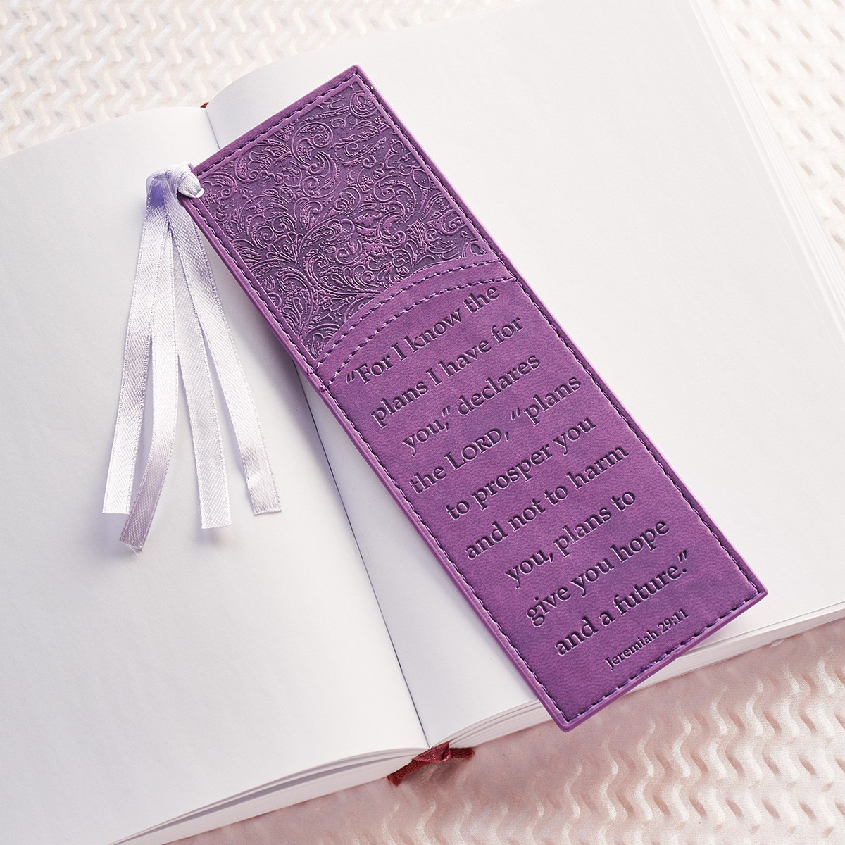 For I Know The Plans In Purple Bookmark