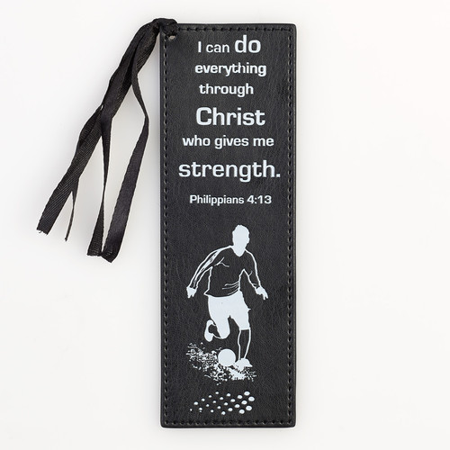 I Can Do Everything LuxLeather Pagemarker/Bookmark in Black - Phil. 4:13