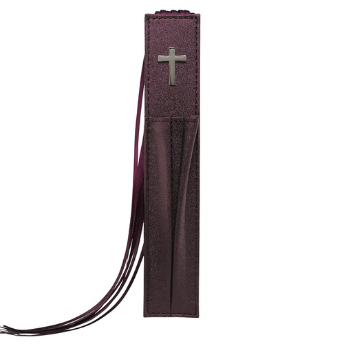 Bible Bookmark with two Pen Holders in Purple