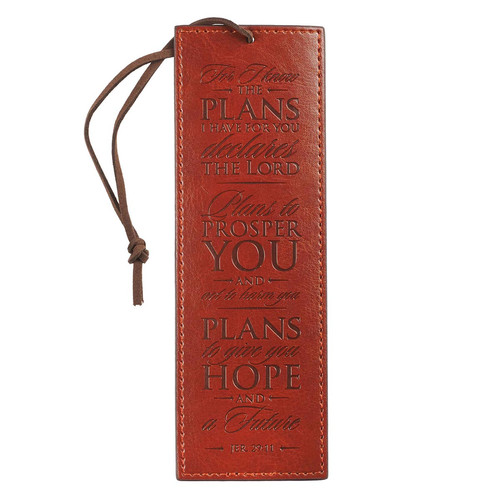 For I Know The Plans - Jeremiah 29:11 Bookmark
